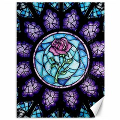 Cathedral Rosette Stained Glass Beauty And The Beast Canvas 36  x 48