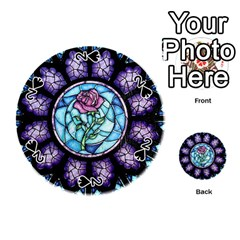 Cathedral Rosette Stained Glass Beauty And The Beast Playing Cards 54 (Round)