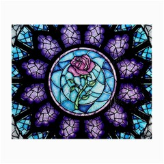 Cathedral Rosette Stained Glass Beauty And The Beast Small Glasses Cloth (2-Side)