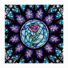 Cathedral Rosette Stained Glass Beauty And The Beast Medium Glasses Cloth