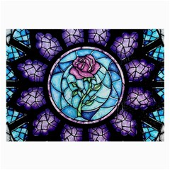 Cathedral Rosette Stained Glass Beauty And The Beast Large Glasses Cloth (2-Side)