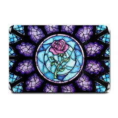 Cathedral Rosette Stained Glass Beauty And The Beast Small Doormat