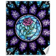 Cathedral Rosette Stained Glass Beauty And The Beast Canvas 11  x 14