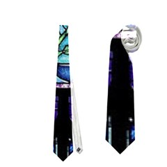Cathedral Rosette Stained Glass Beauty And The Beast Neckties (one Side)