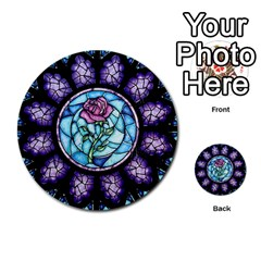 Cathedral Rosette Stained Glass Beauty And The Beast Multi-purpose Cards (Round)