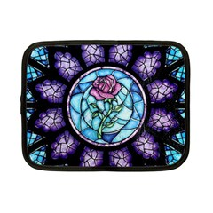 Cathedral Rosette Stained Glass Beauty And The Beast Netbook Case (Small)