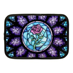 Cathedral Rosette Stained Glass Beauty And The Beast Netbook Case (Medium)