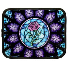 Cathedral Rosette Stained Glass Beauty And The Beast Netbook Case (Large)
