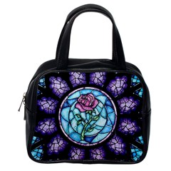 Cathedral Rosette Stained Glass Beauty And The Beast Classic Handbags (One Side)