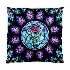Cathedral Rosette Stained Glass Beauty And The Beast Standard Cushion Case (One Side)