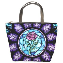 Cathedral Rosette Stained Glass Beauty And The Beast Bucket Bags