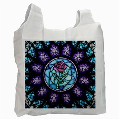 Cathedral Rosette Stained Glass Beauty And The Beast Recycle Bag (One Side)
