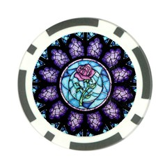 Cathedral Rosette Stained Glass Beauty And The Beast Poker Chip Card Guards (10 pack)