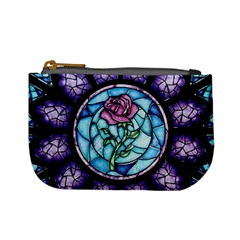 Cathedral Rosette Stained Glass Beauty And The Beast Mini Coin Purses
