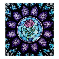 Cathedral Rosette Stained Glass Beauty And The Beast Shower Curtain 66  x 72  (Large)