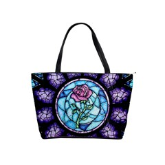 Cathedral Rosette Stained Glass Beauty And The Beast Shoulder Handbags