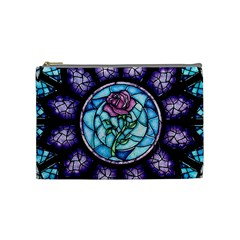 Cathedral Rosette Stained Glass Beauty And The Beast Cosmetic Bag (Medium)