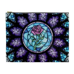 Cathedral Rosette Stained Glass Beauty And The Beast Cosmetic Bag (XL)