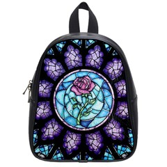 Cathedral Rosette Stained Glass Beauty And The Beast School Bags (Small)