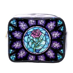 Cathedral Rosette Stained Glass Beauty And The Beast Mini Toiletries Bags