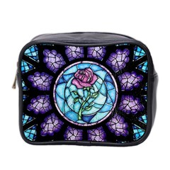 Cathedral Rosette Stained Glass Beauty And The Beast Mini Toiletries Bag 2-Side