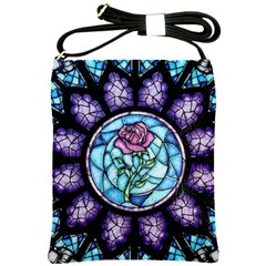 Cathedral Rosette Stained Glass Beauty And The Beast Shoulder Sling Bags