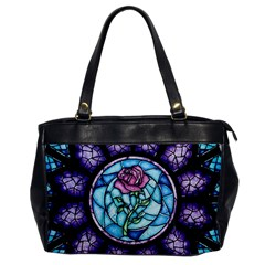 Cathedral Rosette Stained Glass Beauty And The Beast Office Handbags