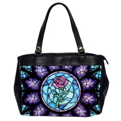 Cathedral Rosette Stained Glass Beauty And The Beast Office Handbags (2 Sides)