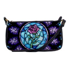 Cathedral Rosette Stained Glass Beauty And The Beast Shoulder Clutch Bags