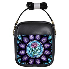 Cathedral Rosette Stained Glass Beauty And The Beast Girls Sling Bags