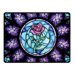 Cathedral Rosette Stained Glass Beauty And The Beast Fleece Blanket (Small)