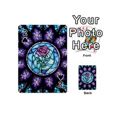 Cathedral Rosette Stained Glass Beauty And The Beast Playing Cards 54 (Mini)