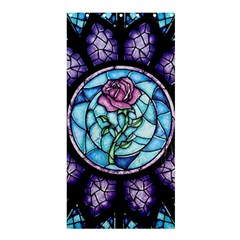 Cathedral Rosette Stained Glass Beauty And The Beast Shower Curtain 36  x 72  (Stall)