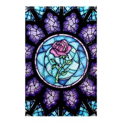 Cathedral Rosette Stained Glass Beauty And The Beast Shower Curtain 48  x 72  (Small)
