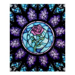 Cathedral Rosette Stained Glass Beauty And The Beast Shower Curtain 60  x 72  (Medium)