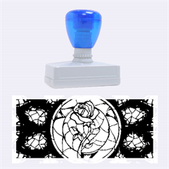 Cathedral Rosette Stained Glass Beauty And The Beast Rubber Stamps (Large)