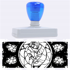 Cathedral Rosette Stained Glass Beauty And The Beast Rubber Address Stamps (XL)