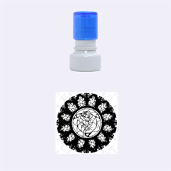 Cathedral Rosette Stained Glass Beauty And The Beast Rubber Round Stamps (Small)
