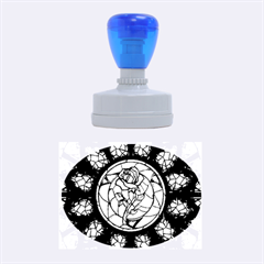 Cathedral Rosette Stained Glass Beauty And The Beast Rubber Oval Stamps