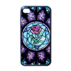 Cathedral Rosette Stained Glass Beauty And The Beast Apple iPhone 4 Case (Black)