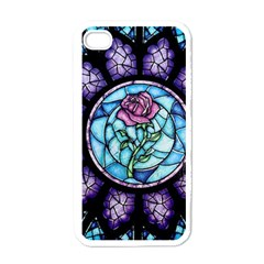 Cathedral Rosette Stained Glass Beauty And The Beast Apple iPhone 4 Case (White)