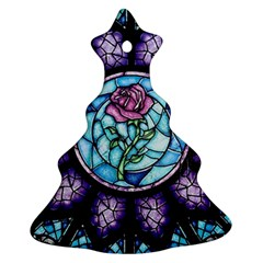 Cathedral Rosette Stained Glass Beauty And The Beast Christmas Tree Ornament (2 Sides)