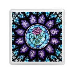 Cathedral Rosette Stained Glass Beauty And The Beast Memory Card Reader (Square)
