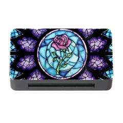 Cathedral Rosette Stained Glass Beauty And The Beast Memory Card Reader with CF