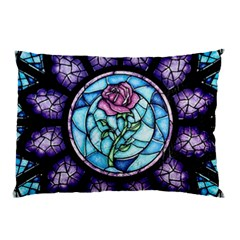 Cathedral Rosette Stained Glass Beauty And The Beast Pillow Case (Two Sides)