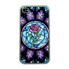 Cathedral Rosette Stained Glass Beauty And The Beast Apple iPhone 4 Case (Clear)