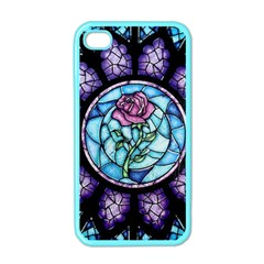 Cathedral Rosette Stained Glass Beauty And The Beast Apple iPhone 4 Case (Color)