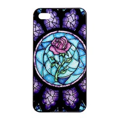 Cathedral Rosette Stained Glass Beauty And The Beast Apple iPhone 4/4s Seamless Case (Black)