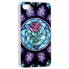 Cathedral Rosette Stained Glass Beauty And The Beast Apple iPhone 4/4s Seamless Case (White)