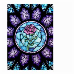 Cathedral Rosette Stained Glass Beauty And The Beast Small Garden Flag (Two Sides)